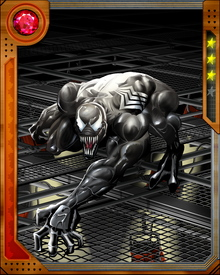 The Venom symbiote's initial primary bonding with Spider-Man has imprinted it on him in a way. It is invisible to Spider-Sense, and always grants a new host some variation on Spider-Man's appearance and powers. All of these new hosts also share Venom's vulnerability to fire and concentrated sonic attacks.