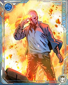 Red Onslaught might have been unstoppable, even facing the combined force of the Avengers Unity Squad—but a small fragment of Professor Xavier's consciousness still existed within the Red Skull's mind. It fought him, and prevented the Red Onslaught from achieving his full power.