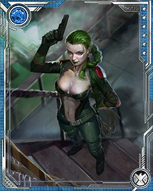 Ophelia Sarkissian was orphaned at an early age and became one of the star students of Hydra's notorious recruiter known as the Kraken. Achieving a leadership role in the organization, she began calling herself Madame Hydra when she assumed control of Hydra's New York operations.