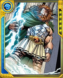 I am Zeus! The king of gods and the lord of the storm! Let no threat--mortal or immortal--challenge me!
