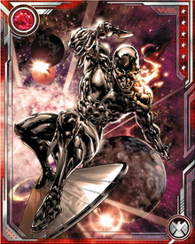 The material that makes up the Silver Surfer's board is similar to the material that makes up the hero's skin ,making both nearly indestructible.