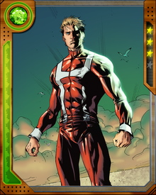 Hyperion joined the Avengers and fought with them against the threat of the Builders and their Origin Bomb.
