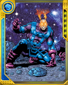 When Thanos assembled the Infinity Gauntlet, Galactus was one of the cosmic entities who fought against him.