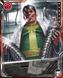 Doctor Octopus formed the original Sinister Six to remove Spider-Man once and for all. Spider-Man proved once again he was more resourceful than Octavius had expected, however, and Octavius kept tinkering with the Sinister Six's lineup, hoping for better success.