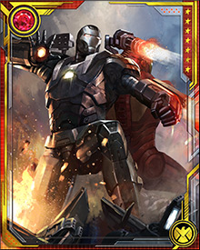 Rhodey has fought back-to-back with Tony Stark on more occasions than either of them could count. During the Armor Wars, though, he found himself fighting an even stranger enemy: The Actor, who had assumed Rhodes' form as a way to mislead Tony. One of the War Machine's differences from the Iron Man armors is its load of Super Power Inhibiting Nanobot (SPIN) cartridges in its Gatling-cannon magazine.
