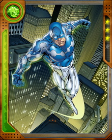 Captain Universe is the name given to whichever being is the current physical partner/host to the Uni-Power, a sentient cosmic energy field. It first appeared on Earth after Baron Karza invaded from the Microverse, and has since chosen a number of partners to further its inscrutable goals.