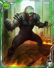 During the Civil War, Hulkling played a critical role in the activities of the anti-registration movement. Using his shape-changing powers to impersonate Yellowjacket, he allowed the anti-registration forces to free the prisoners held by Reed Richards in the Negative Zone.
