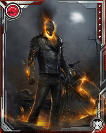 All Ghost Riders are inhabited by the Spirit of Vengeance, whose essence is housed in the Medallion of Power. Even when the Medallion is broken into shards, it can create a Ghost Rider to give the Spirit of Vengeance physical form.