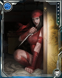 Captured and badly injured by a Super-Skrull early in the Secret Invasion, Elektra was held captive on a Skrull warship until the last stages of the war. Upon her release, she was transferred to S.H.I.E.L.D. custody due to suspicions about her ongoing involvement with the Hand.