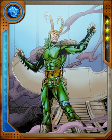 When Loki was but a child, Odin led the Asgardians into battle against the Frost Giants and killed their king, Laufey, in personal combat. After the battle, Odin found Loki hidden within the primary stronghold of the Frost Giants. Odin adopted the boy, and raised him as his son alongside his biological son Thor.