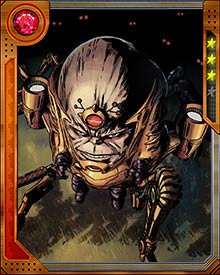 MODOK was created through genetic manipulation by the villainous organization Advanced Idea Mechanics, also known as AIM. He worked for them trying to unlock the potential mental powers of the human brain. His last experiment changed him from the scientist Stephen Tarleton into MODOK