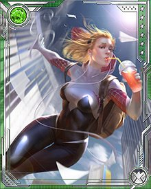 On Earth-65, the bite of a radioactive spider gave Gwen Stacy arachnoid powers. She started fighting crime with those powers, not because she was big on vigilantism, but more because she enjoyed the media attention.