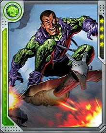 This newly engineered Green Goblin kept up his progenitor's favorite occupation: hunting Spider-Man. But it was dependent on a chemical formula to maintain its mind and physical form; when deprived of this formula, it melted, but not before promising the Green Goblin would return.