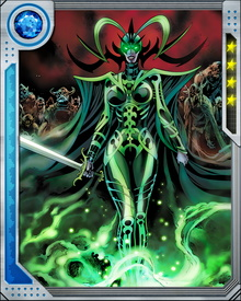 Hela can astrally project herself to any realm. She possesses the power to kill any mortal—and some gods—with a simple touch, and she can also restore life to the recently dead as long as the soul in question has not yet left the body.