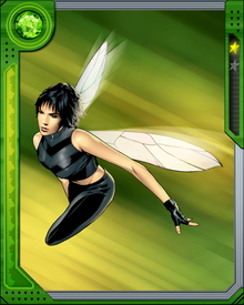 Janet Van Dyne, Wasp, is one of the founding members of the Avengers and coined the name of the Team.