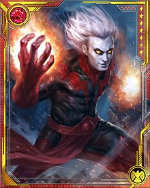 More devious than ever, Magus not only staged his own death at the hands of Star-Lord, he also detonated whole shipfuls of his Universal Church of Truth followers to blast the Fault wide open, allowing the writhing contents of the Cancerverse to spill into ours.