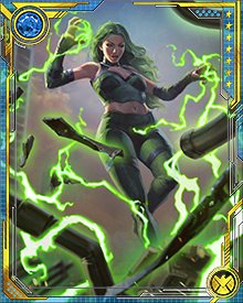 Polaris came to play a key role in the Exiles' recent adventures, and was recruited as part of a new wave of Exiles. These heroes, brought in shortly before their deaths would have occurred in their timelines, are not as susceptible to becoming frozen within the Panoptichron.