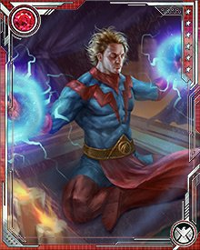 When the interdimensional Fault first opened in the fabric of space, Adam Warlock resorted to drastic measures to keep it from expanding. He manipulated the timestreams, but this led to the resurfacing of the Magus part of his soul.