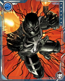 Flash Thompson is brought in by the government as a special agent, wearing the Venom symbiote in service of his country. He has restrictions, however, and is only allowed to wear the suit for up to 48 hours, or he risks permanently bonding with the symbiote.