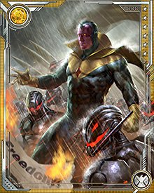 The Vision is the only sentient being on Earth who knows Ultron well enough to fight back against Stark and Ultron's plan...after all, Ultron created him. Who better to combat Ultron's most dangerous plot?