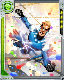 Speedball survived the encounter between the New Warriors and Nitro that kicked off the events leading to the super hero Civil War, but his powers were not the same afterward.
