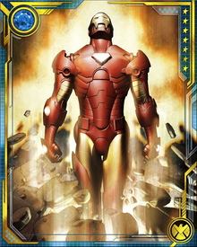 The most recent armor is stored inside of a nanotube which is planted inside of Stark. The armor is controlled directly from the brain, allowing for quicker reflexes while using the suit.