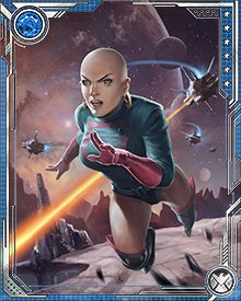 As a member of Warlock's Infinity Watch, Moondragon was sworn to protect the Mind Gem.