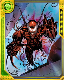 Like other symbiotes, Carnage is vulnerable to heat and sonic attacks. They weaken him quickly, and drive him to even more extreme madness.