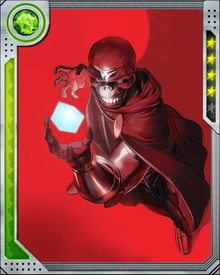 The Red Skull gained enhanced strength and endurance from a German super-soldier program during World War II. He prefers to let his underlings do his fighting, but occasionally he relishes joining the battle himself.