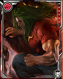 At one time, the unstable nature of Doc Samson's gamma-enhanced physiology meant that his strength would increase or decrease in proportion to the length of his green hair. Over time, his mutation has stabilized, and his muscle-power and emerald locks are mutually exclusive concerns...for now.