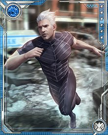 One powerful use for Quicksilver's speed is the creation of cyclonic winds, which he does by running in circles. Using this technique he has created winds powerful enough to destroy structures and disable powerful enemies.