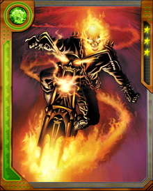 Ghost Rider can control Hellfire to attack enemies.  He uses it to transform his bike into a flaming machine of destruction.