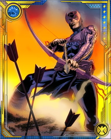 During his tenure as the leader of the Thunderbolts, Hawkeye guided the team as they took on threats such as Mephisto, the Scourge of the Underworld, Graviton and the Masters of Evil.