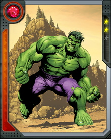 Dr. Bruce Banner was exposed to a gamma bomb during its test while rushing to save a teenager who was at the test site. The resulting gamma radiation turned the scientist into the Hulk.