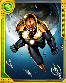 After the Annihilation Wave destroyed the Nova Corps, Nova absorbed all of their powers and the singular ability to use the Worldmind computer.