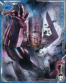 I am Galactus! I am timeless and inevitable! Once, I might have been sympathetic to the whims of humanity. Now, though, I have abandoned such frailties. Only my hunger is of consequence!