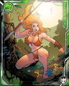 Her newly deepened connection with the Savage Land has also granted Shanna superhuman strength, speed, and endurance. Before, she was a superbly tuned human athlete. Now, she is the power of the Savage Land given flesh.