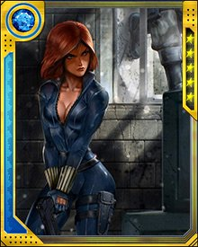 The Super Hero Civil War put Black Widow in a difficult position, but one she has become accustomed to: having conflicting loyalties. In the end she supported registration and joined Iron Man's task force hunting down the anti-registration heroes.