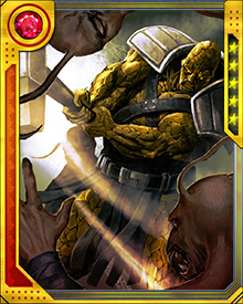 Korg became one of Hulk's Warbound as they all rose from the gladiator pits together, and of all of them he was perhaps the most unquestioningly loyal. He is haunted by killing his brother, and is determined to find some way to atone.