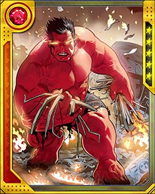 Until he's in a fight, Red Hulk can control the nuclear furnace that burns in every cell of his being... but when the battle comes, that furnace overheats, and his enemies suffer the consequences.