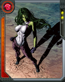 When Jennifer Walters received a blood transfusion from her cousin Bruce Banner (the Hulk), she manifested the power of the She-Hulk.
