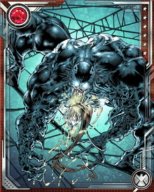 The symbiote called Venom originated on one of the planets the Beyonder used to create Battleworld. Freed from its prison by Spider-Man during the Secret Wars, the symbiote bonded to Spider-Man and used him to travel back to Earth, where it eventually broke away and found a new host: the humiliated reporter Eddie Brock.