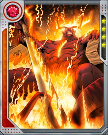 Before Loki freed him in exchange for Twilight's Shadow, Surtur was imprisoned in Limbo, fighting an endless series of battles with Odin. This was a consequence of Ragnarok, and now that it has been undone Surtur rules in Muspelheim once more.