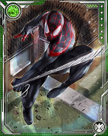 "In addition to being able to shoot webbing and stick to walls, as well as a Spider-Sense, Morales has two notable powers that differ from those of his predecessor. He can camouflage himself in certain surroundings, and can deliver what he calls ""venom strikes"" that cause disabling pain and paralysis."