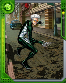Brought into the Young Avengers after he accidentally destroyed his high school, Thomas Shepherd adopted the moniker Speed and began to learn the extent of his abilities. He is faster than Quicksilver, and can destroy physical objects by agitating their molecules. He can also shift his own molecular structure to become insubstantial.