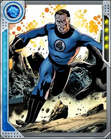 Using his abilities against a much stronger opponent calls on the creativity of Reed Richards' genius intellect. One use of his power includes stretching out flat, like a blanket, and shrouding his foe. In so doing, Mr. Fantastic cuts off his enemy's air supply, possibly rendering them unconscious!