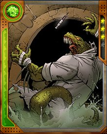 As the Lizard, Dr. Curt Connors has been one of the fiercest foes of Spider-Man. Perhaps because of the transformation from human to reptile, the Lizard has never been shy about violent and savage attacks. Willing to maim or kill anyone he sees as being in his way at the time.