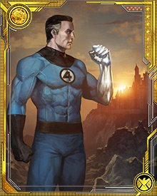 Mr. Fantastic has developed a way to transfer the powers of other heroes to himself. His first experiment used Colossus—and now Mr. Fantastic has the strength and durability of organic steel in addition to his stretching powers.
