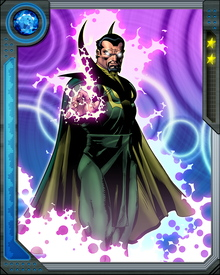 Baron Mordo studied with the Ancient One during the early years of World War II. There he learned of the existence of Dormammu and sought to make an alliance with the demonic being.