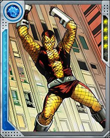 Shocker works best when he's part of a group. He's been involved with the Sinister Six, the Sinister Twelve, the Masters of Evil, and many other villainous alliances. The safety of a group lets him deal with his confidence issues... but he can put up an electrifying fight even when he's on his own.